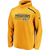 NHL Men's Nashville Predators Authentic Pro Transitional Gold Pullover Hoodie