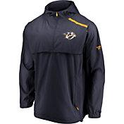 NHL Men's Nashville Predators Authentic Pro Yellow Anorak Jacket