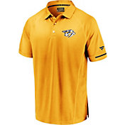 NHL Men's Nashville Predators Authentic Pro Rinkside Yellow Polo