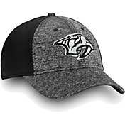 NHL Men's Nashville Predators Black and White Flex Hat