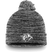 NHL Men's Nashville Predators Black and White Pom Knit Beanie