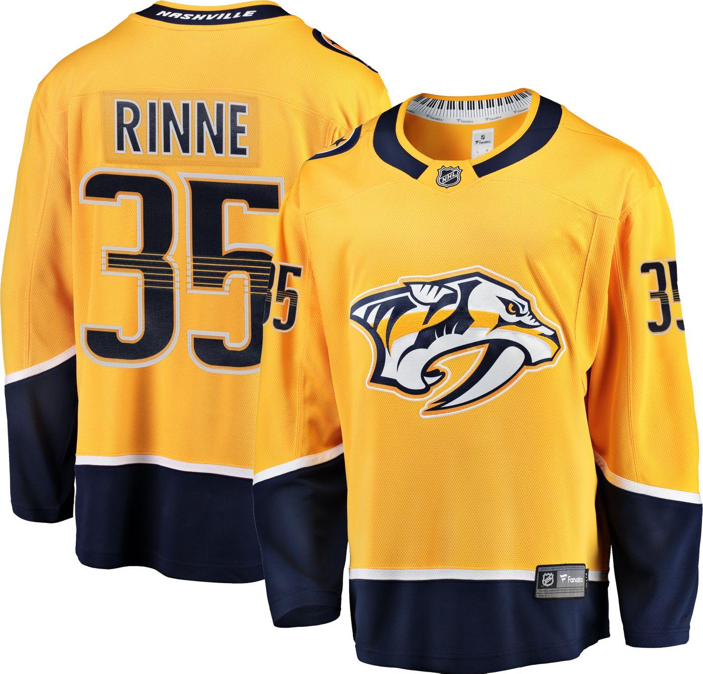 NHL Men's Nashville Predators Pekka Rinne #35 Breakaway Home Replica Jersey
