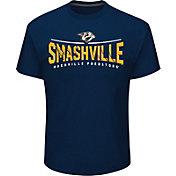 NHL Men's Nashville Predators Smashville Navy T-Shirt