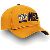 NHL Men's Nashville Predators Authentic Pro Rinkside Alpha Gold Adjustable Hat