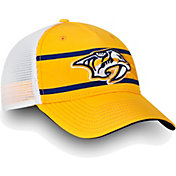 NHL Men's Nashville Predators Authentic Pro Second Season Gold Trucker Adjustable Hat