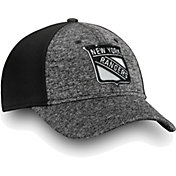 NHL Men's New York Rangers Black and White Flex Hat