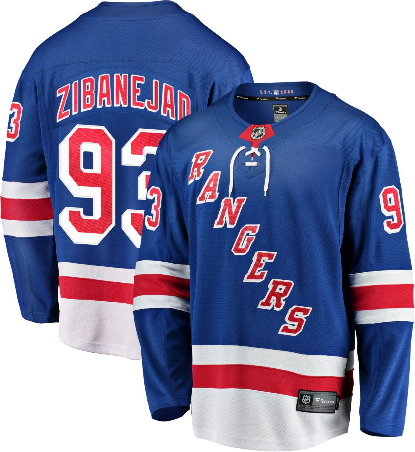 NHL Men's New York Rangers Nika Zibanejad #93 Breakaway Home Replica Jersey