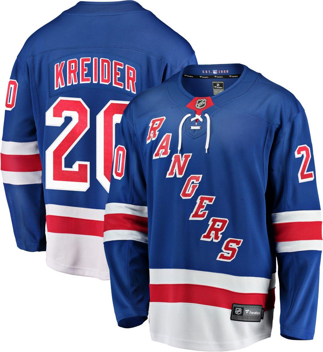 new style 943d4 e8952 NHL Men's New York Rangers Chris Kreider #20 Breakaway Home Replica Jersey