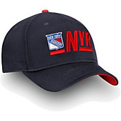 NHL Men's New York Rangers Authentic Pro Rinkside Alpha Navy Adjustable Hat