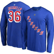 NHL Men's New York Rangers Mats Zuccarello #36 Royal Long Sleeve Player Shirt