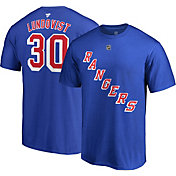 NHL Men's New York Rangers Henrik Lundqvist #30 Royal Player T-Shirt