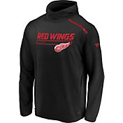 NHL Men's Detroit Red Wings Authentic Pro Transitional Black Pullover Hoodie