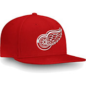 NHL Men's Detroit Red Wings Core Logo Red Snapback Adjustable Hat