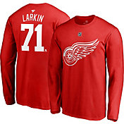 NHL Men's Detroit Red Wings Dylan Larkin #71 Red Long Sleeve Player Shirt