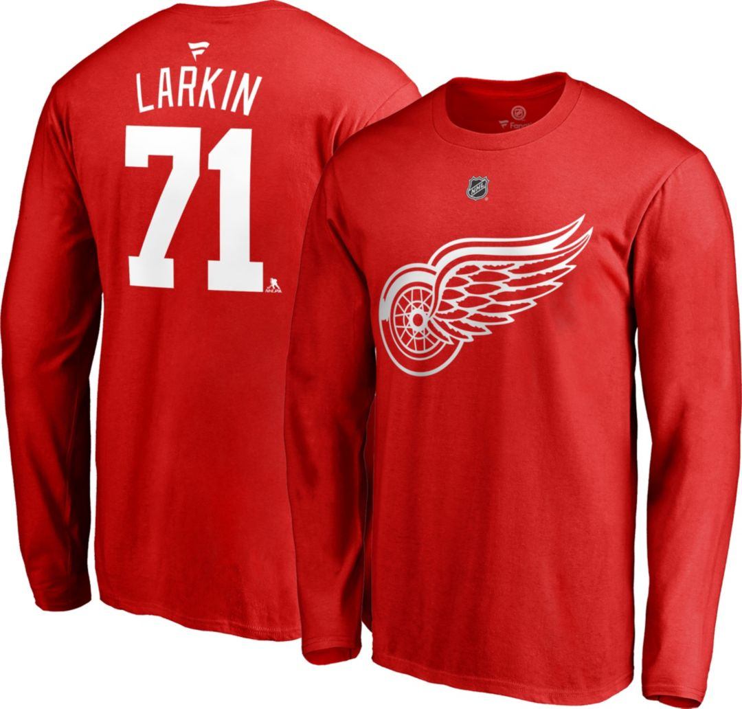 new arrivals b312e 83a3c NHL Men's Detroit Red Wings Dylan Larkin #71 Red Long Sleeve Player Shirt