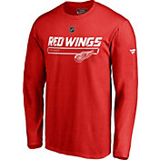 NHL Men's Detroit Red Wings Authentic Pro Prime Red Long Sleeve Shirt