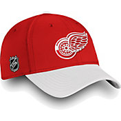 NHL Men's Detroit Red Wings Iconic White Flex Hat