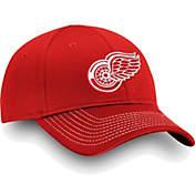5df0b1c341f NHL Mens Detroit Red Wings Depth Alpha White Adjustable Hat