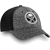 NHL Men's Buffalo Sabres Black and White Flex Hat