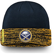 NHL Men's Buffalo Sabres Authentic Pro Rinkside Navy Cuffed Knit Beanie