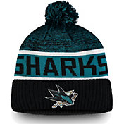 NHL Men's San Jose Sharks Authentic Pro Rinkside Goalie Black Cuffed Knit Beanie