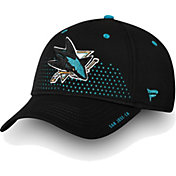 NHL Men's San Jose Sharks 2018 NHL Draft Structured Black Flex Hat