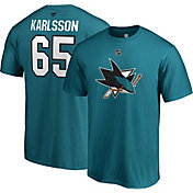NHL Men's San Jose Sharks Erik Karlsson #65 Teal Player T-Shirt