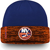 NHL Men's New York Islanders Authentic Pro Rinkside Blue Cuffed Knit Beanie