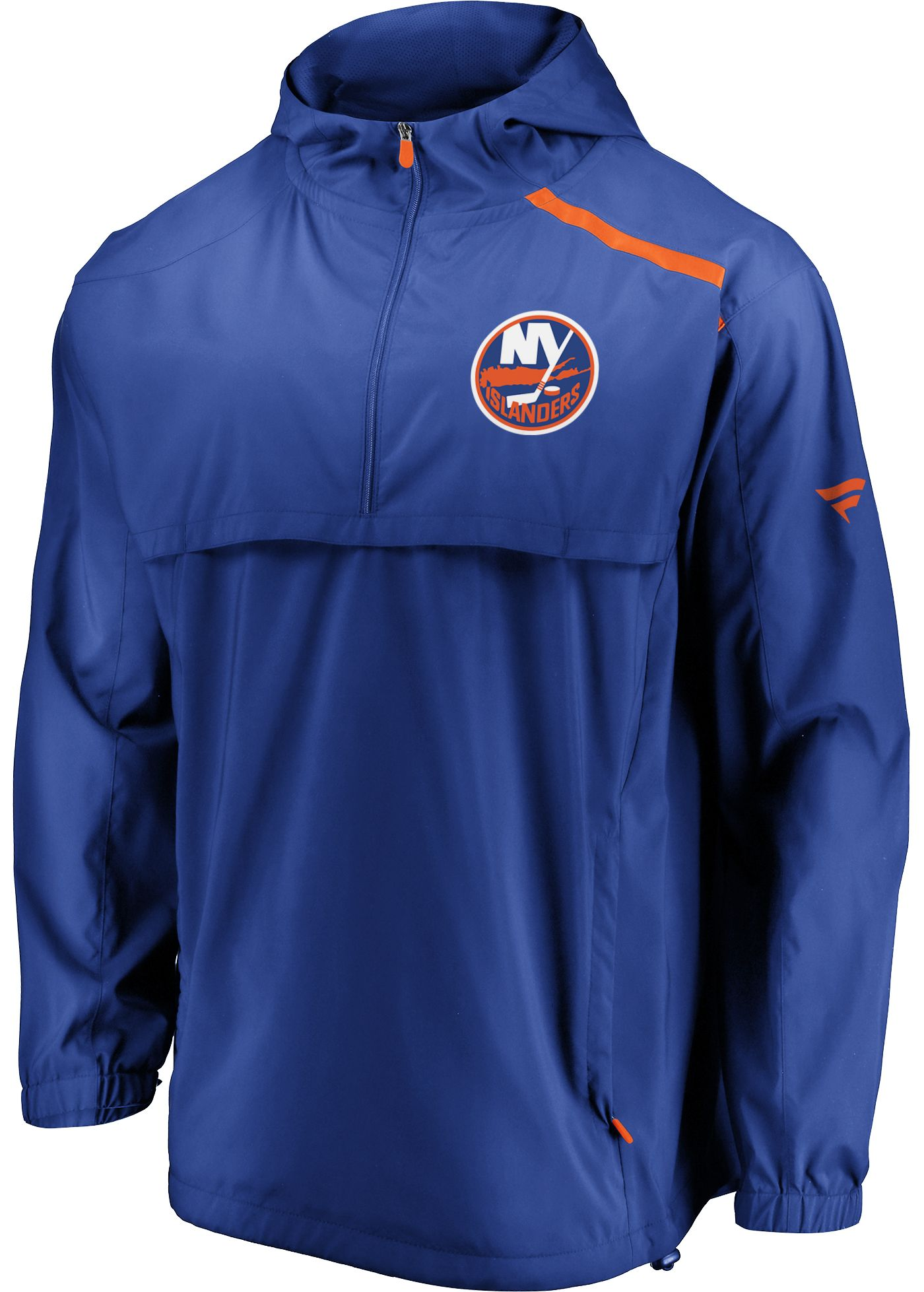 NHL Men's New York Islanders Authentic Pro Blue Anorak Jacket