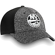 NHL Men's New York Islanders Black and White Flex Hat