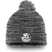 buy popular db0c1 dbdcd NHL Men s New York Islanders Black and White Pom Knit Beanie