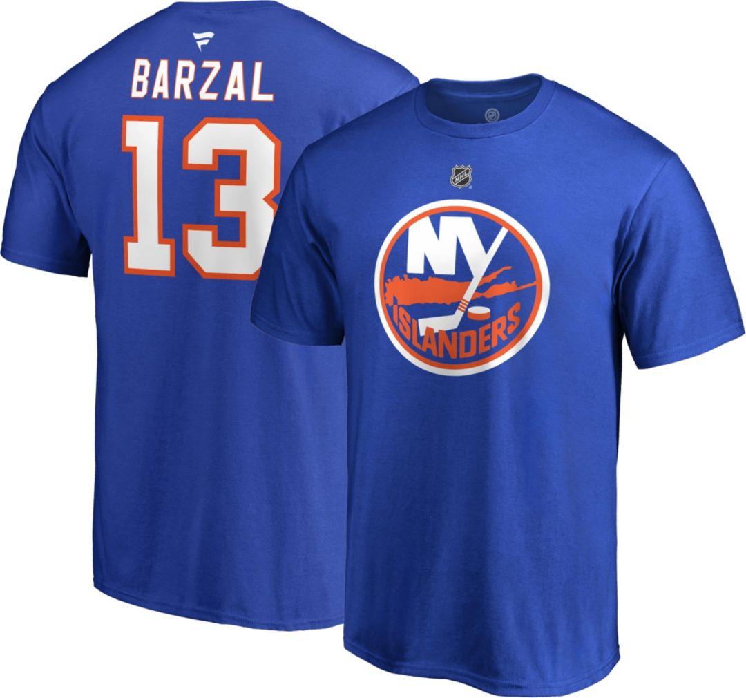 new style 0efb6 40778 NHL Men's New York Islanders Matthew Barzal #13 Royal Player T-Shirt