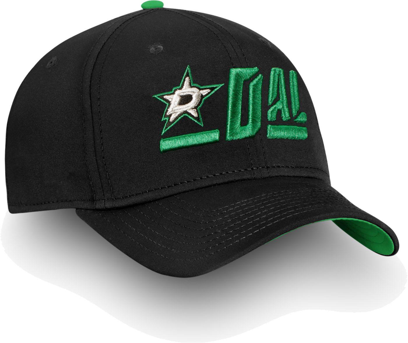NHL Men's Dallas Stars Authentic Pro Rinkside Alpha Black Adjustable Hat