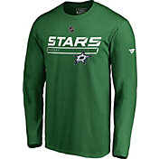 NHL Men's Dallas Stars Authentic Pro Prime Green Long Sleeve Shirt