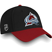 NHL Men's Colorado Avalanche Iconic Black Flex Hat