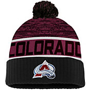 NHL Men's Colorado Avalanche Authentic Pro Rinkside Goalie Maroon Cuffed Knit Beanie