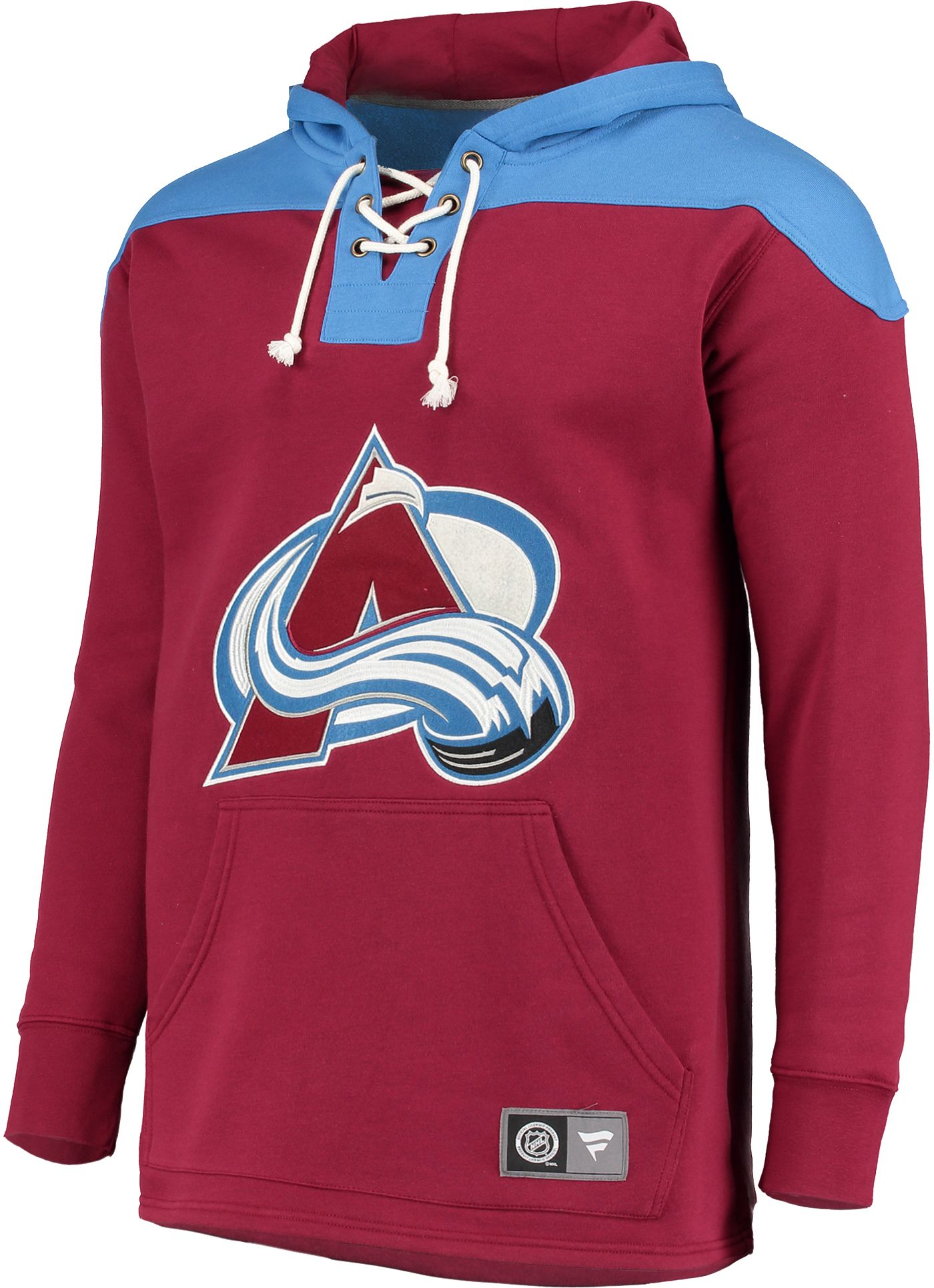 NHL Men's Colorado Avalanche Breakaway Red Pullover Sweatshirt