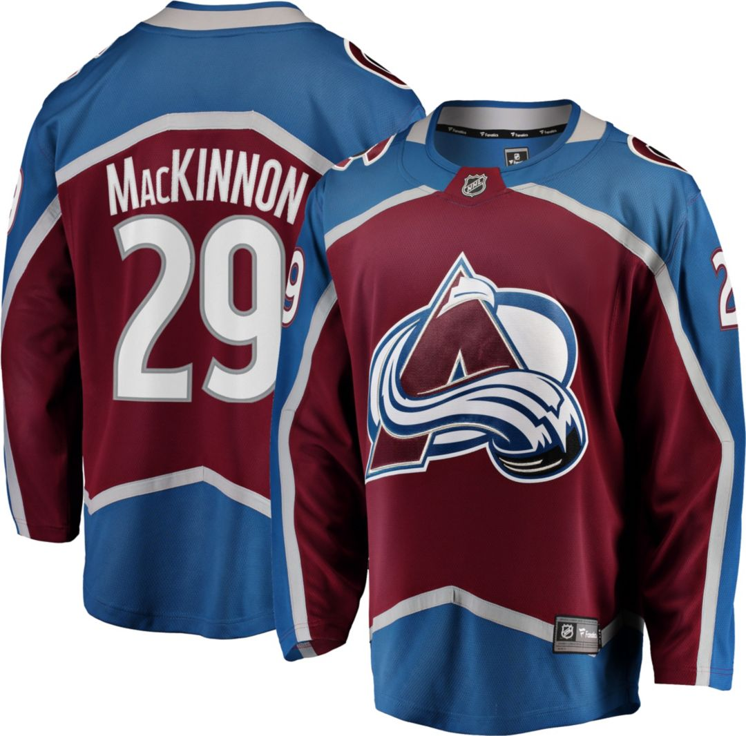 new arrival cb6a9 02656 NHL Men's Colorado Avalanche Nathan MacKinnon #29 Breakaway Home Replica  Jersey