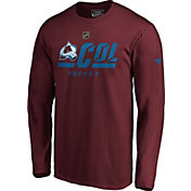 NHL Men's Colorado Avalanche Authentic Pro Prime Red Long Sleeve Shirt