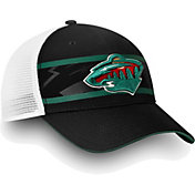 NHL Men's Minnesota Wild Authentic Pro Second Season Black Trucker Adjustable Hat
