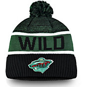 NHL Men's Minnesota Wild Authentic Pro Rinkside Goalie Black Cuffed Knit Beanie