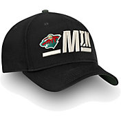 NHL Men's Minnesota Wild Authentic Pro Rinkside Alpha Black Adjustable Hat