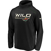 NHL Men's Minnesota Wild Authentic Pro Transitional Black Pullover Hoodie