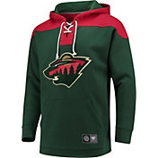 NHL Men's Minnesota Wild Breakaway Green Pullover Sweatshirt