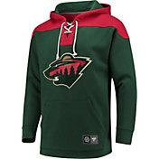 NHL Men's Minnesota Wild Breakaway Green Pullover Sweatshirt