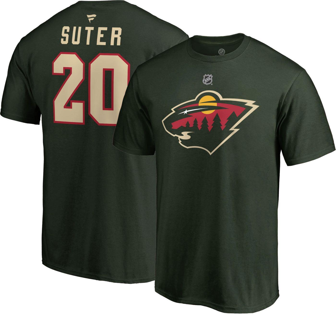 NHL Men's Minnesota Wild Ryan Suter #20 Green Player T-Shirt