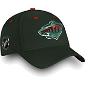 NHL Men's Minnesota Wild Authentic Pro Rinkside Speed Green Flex Hat