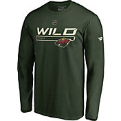 NHL Men's Minnesota Wild Authentic Pro Prime Green Long Sleeve Shirt