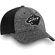 NHL Men's Minnesota Wild Black and White Flex Hat