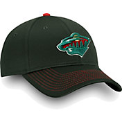 NHL Men's Minnesota Wild Depth Alpha Red Adjustable Hat
